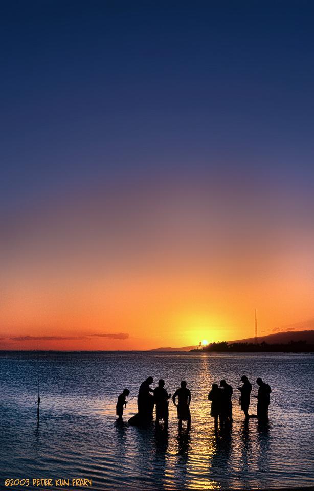 Ala moana fishing circle honolulu hawaii usa for Moana fishing pole